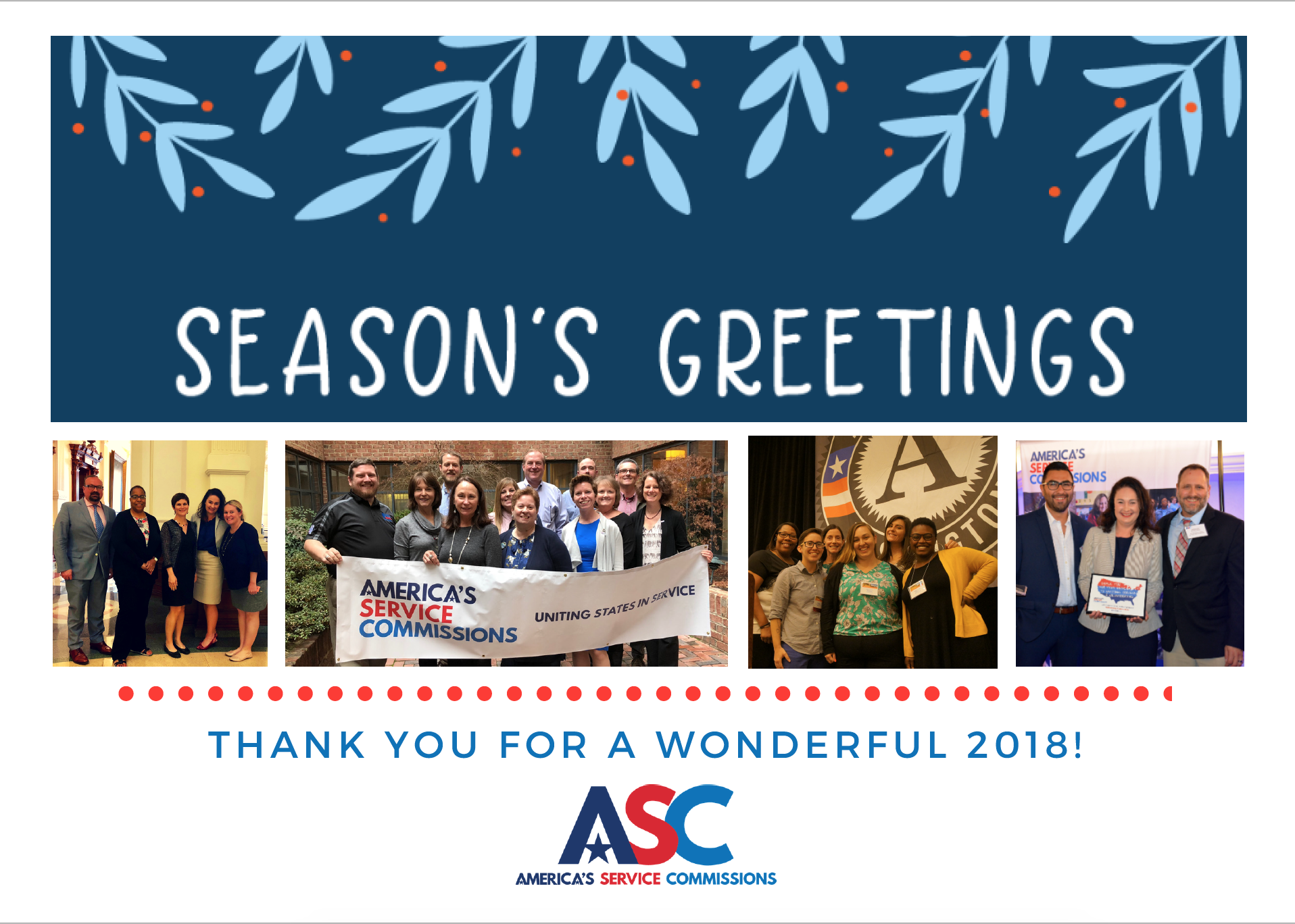 3a1a2389b13 Wishing all of you a wonderful holiday break and a happy new year on behalf  of America's 52 state service commissions.